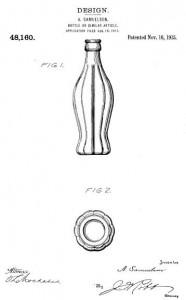 Coke bottle uspto design patent