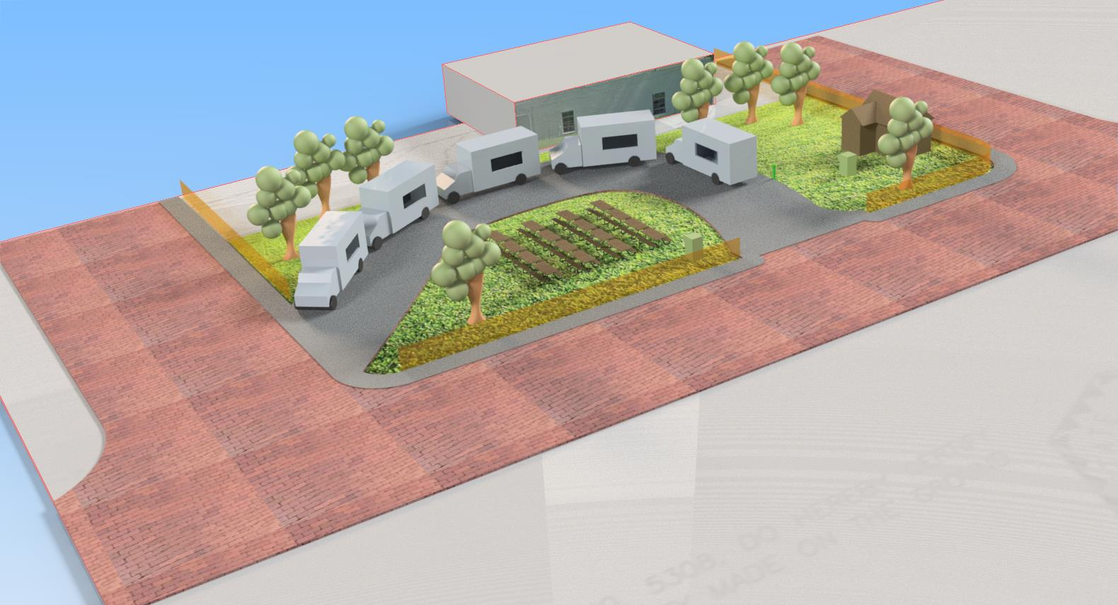 Food Truck Park CAD Drafting and Design Challenges