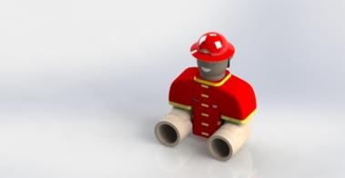 Firefighter Bath Toy Design