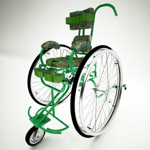 mobility assistance device wheelchair 3d modeling design