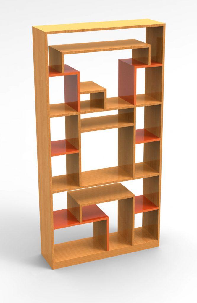 Book shelf cad design