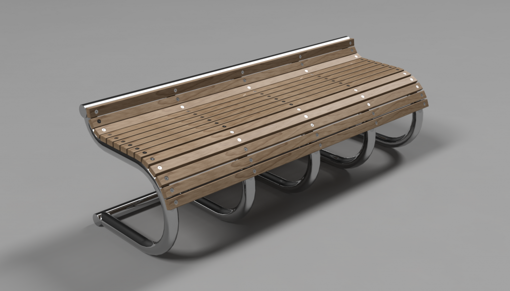 Concept bench Product Design 3D cad modeling