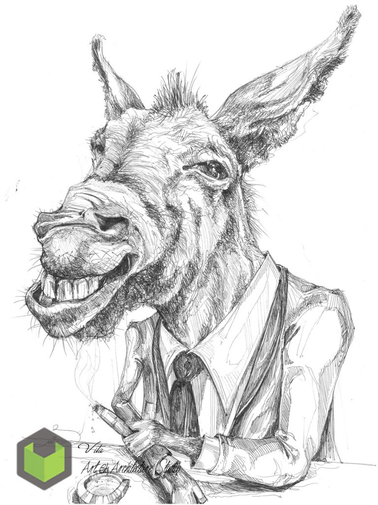 Mr donkey illustration