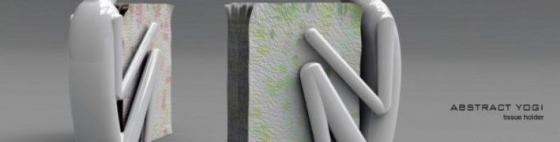 abstract yogi napkin holder