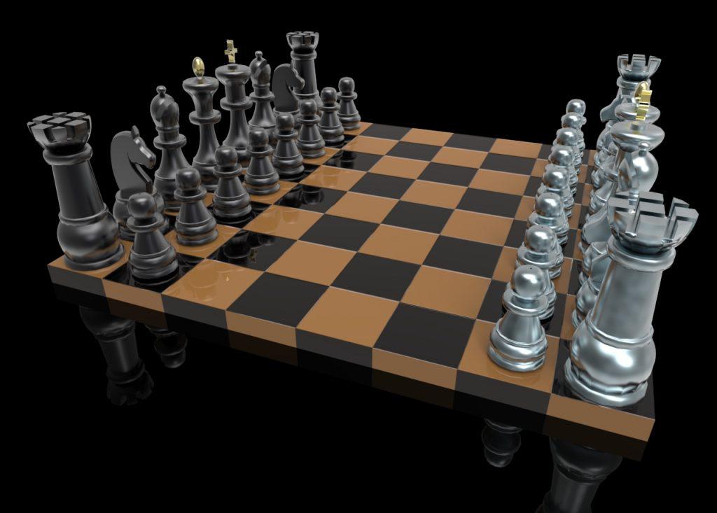 chess set 3d modeling design