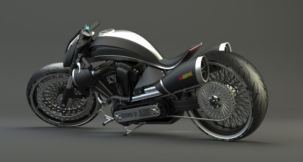 Motorcycle design 3d modeling
