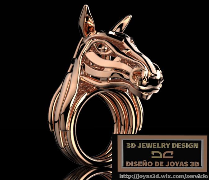 stylized horse custom jewelry design