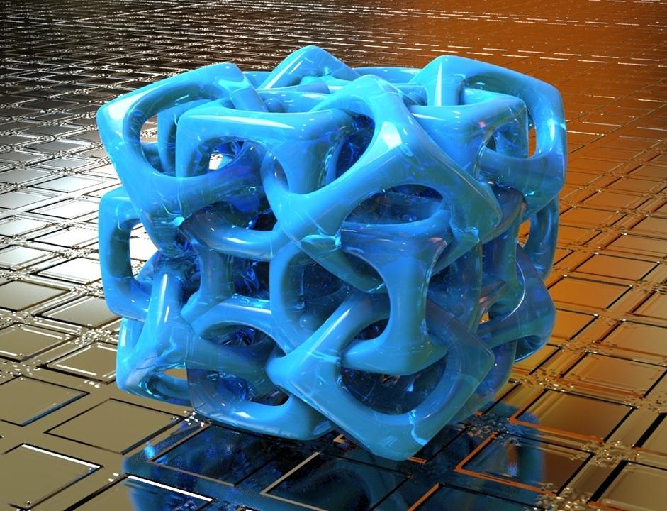 woven cube 3d modeling design