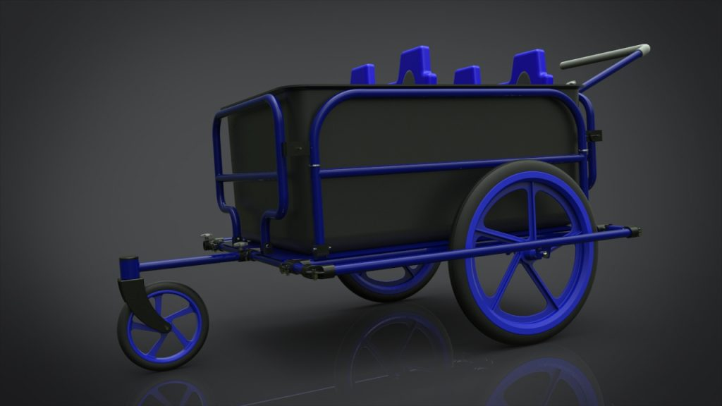 bike trailer 3d modeling design