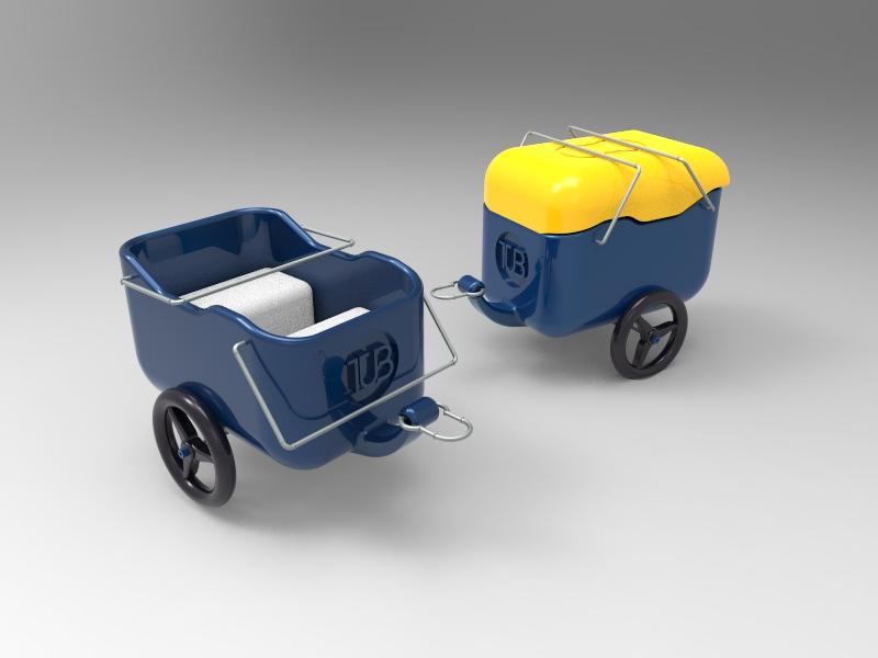 bike trailer cad design