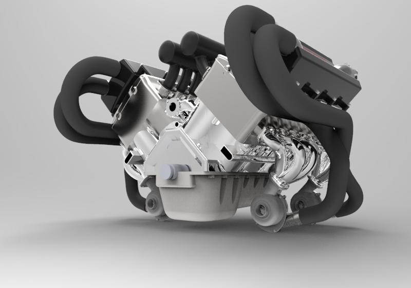 engine 3d modeling