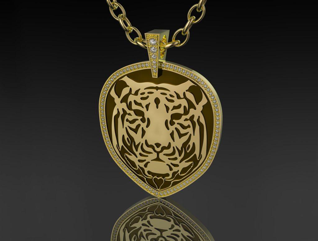 tiger pendant cad designer