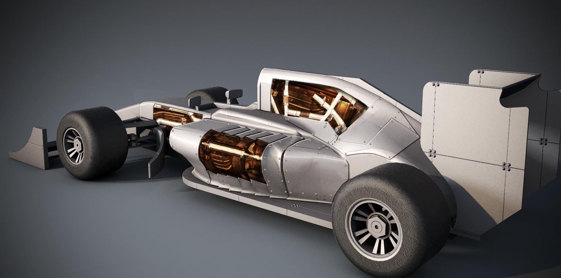 The Steampunk Design Contest Jet Engine Race Car Cad Crowd