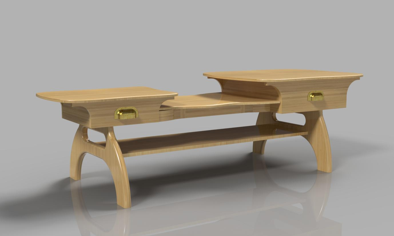 New 3d modeling design showcase cad crowd for 3 level coffee table