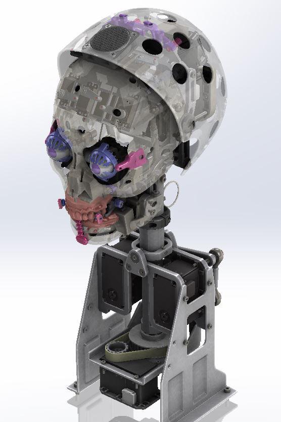 Animatronics head design and AI
