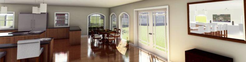 Interior design 3d cad rendering