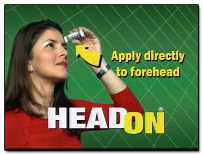 head on