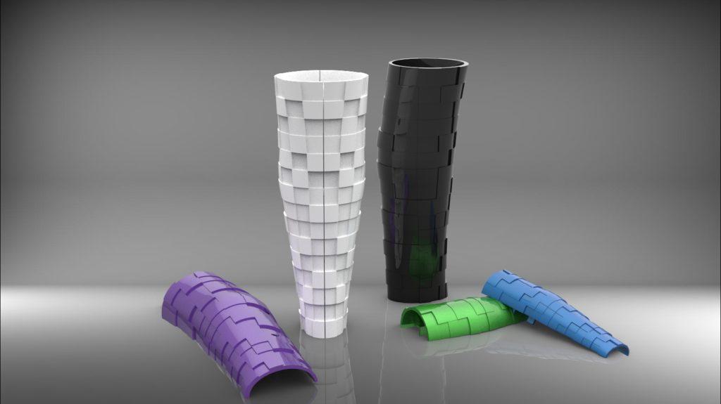 Geometric 3D design for prosthetic leg cover