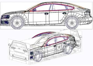 Wire-frame 3D models