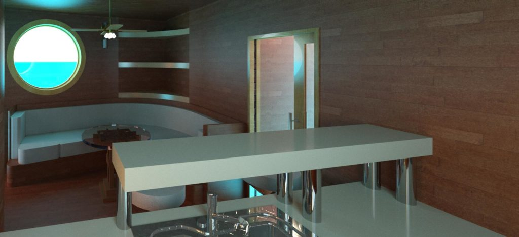 Yatch staff lounge interior design – Entry #5 by Emmanuel