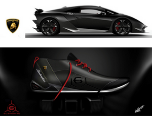 Shoe design by Ajay Prabith Prakash - inspired by Lamborghini