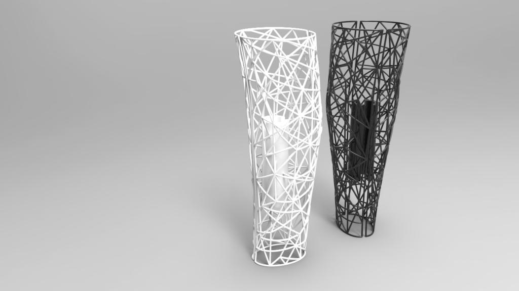 custom 3D lattice design for prosthetic leg