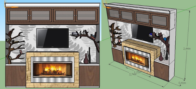 Fireplace design submission concept by Archetto