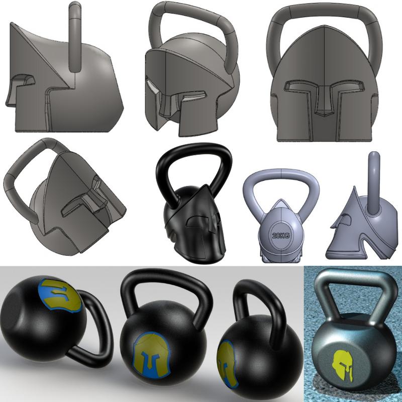Kettlebell weights design and customization