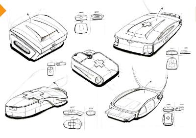 Medical kit sketch
