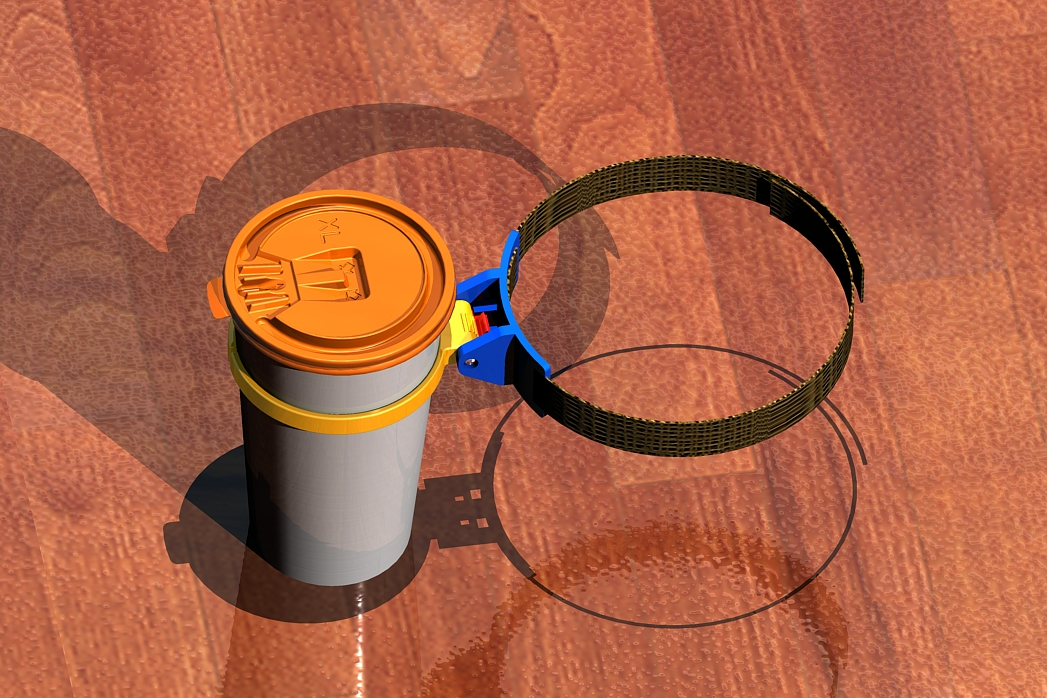 Travel design mug holder consumer product prototype