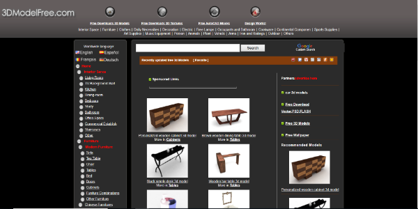 3DModelFree – Free 3D assets