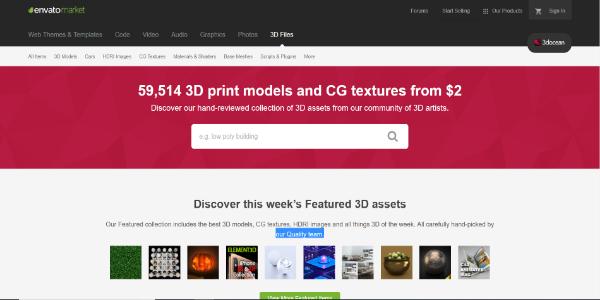 3DOcean – Paid 3D assets