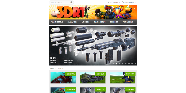 3DRT – Free and paid 3D assets