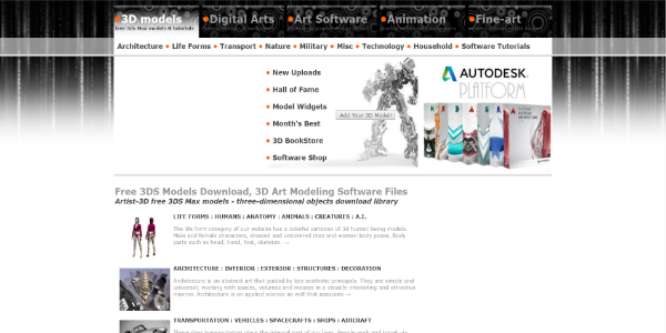 Artist-3D – Free 3D assets