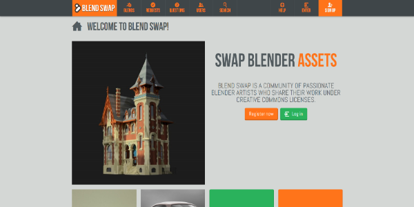 Blend Swap – Free and paid 3D assets