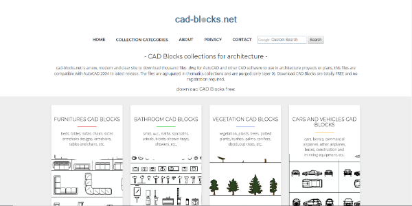 CAD-Blocks – Free 3D assets