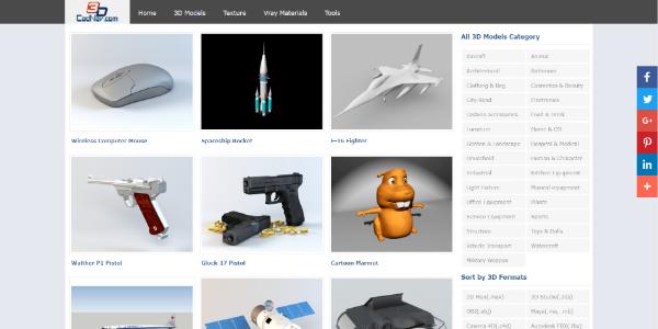 CadNav – Free 3D assets