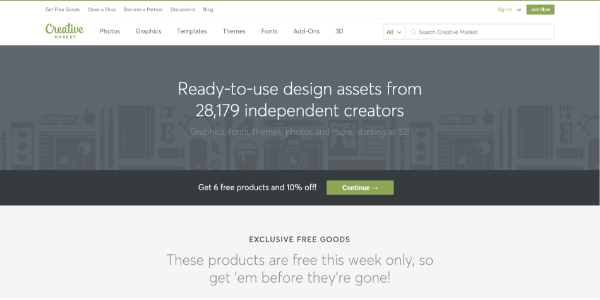 Creative Market – Free and paid 3D assets
