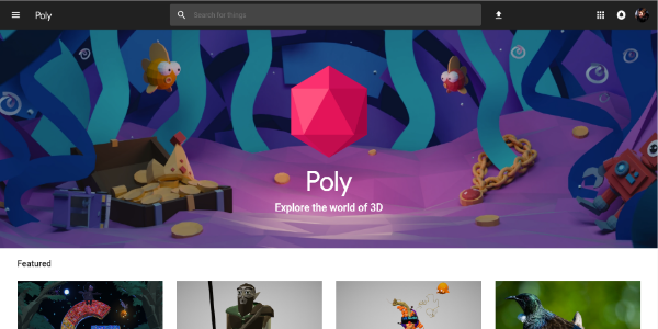 Google Poly – Free 3D assets