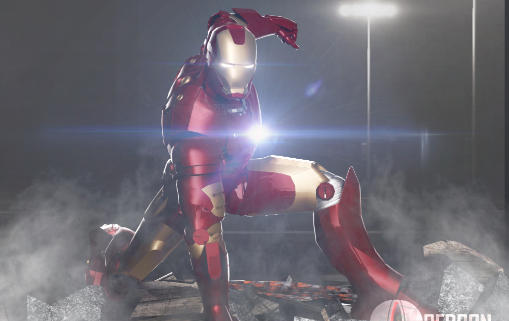 Iron Man 3D rendering by Redron Creations