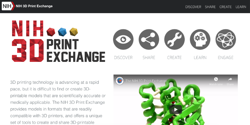 NIH 3D Print Exchange – Free 3D assets