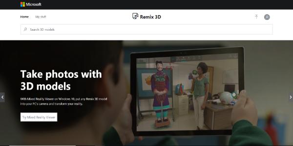 Remix 3D – Free 3D assets