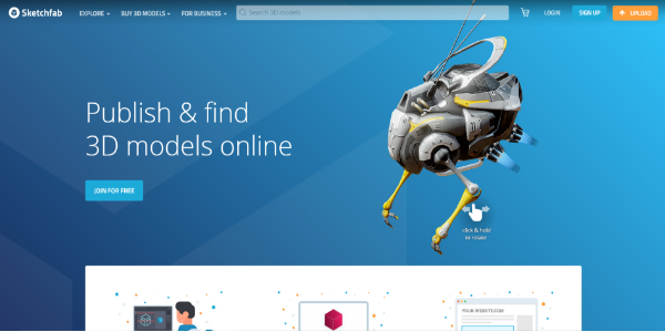 Sketchfab – Free and paid 3D assets