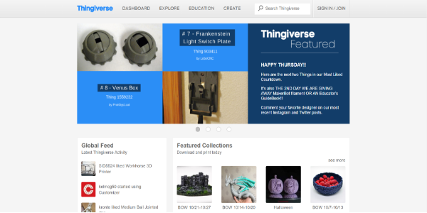 Thingiverse - free 3d assets