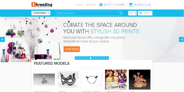 Threeding – Free and paid 3D assets