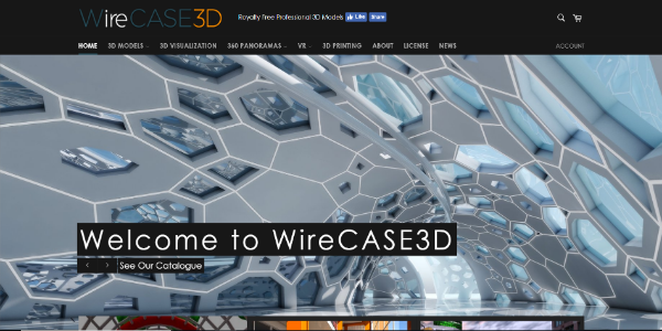 WireCASE3D – Free and paid 3D assets