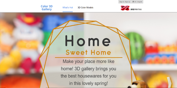 XYZprinting 3D Gallery – Free and paid 3D assets