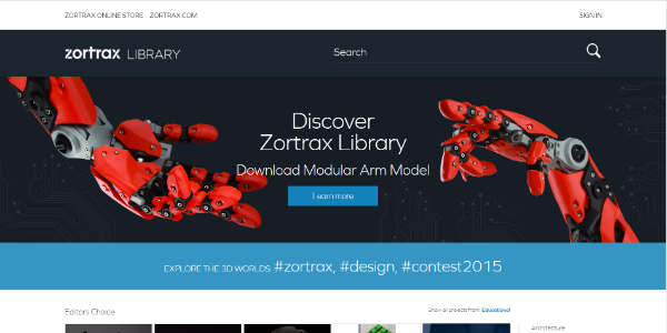 Zortrax Library – Free 3D assets