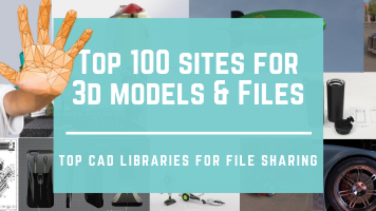 Top 100 Sites For Free 3d Models And Cad Block Libraries Cad Crowd