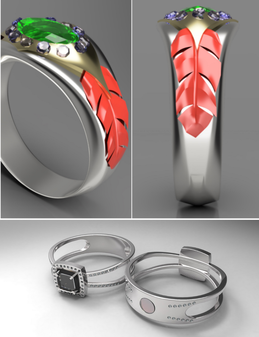 Custom ring design contest and jewelry designer for wedding ring contest